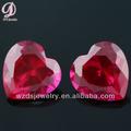 China material sintético 5# rubíes precio por quilate corazón gemas