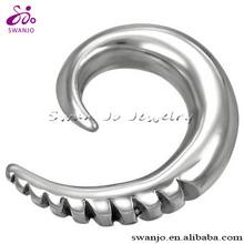Fashion stainless steel spiral ear taper ear expander ear stretcher earrings body piercing jewelry