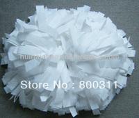 white plastic pom poms,cheerleading pom poms