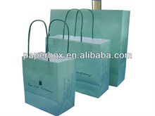 gifts packing light blue twisted paper bag