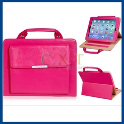 Handbag Design Faux Leather Stand Protective Case for iPad 2/3/4 (Red)