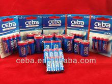 CEBA alkaline battery primary battery aaa lr03 am4 1.5v alkaline battery aa