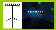NEW products 8pcs Cree 5 watt RGBW pinspot led light dj systems