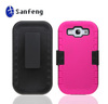Rugged Silicone PC Hard Case Cover Shell Belt Clip Stand for Samsung Galaxy S3 i9300