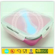 Silicon kitchenware lunch box,silicon callapsible bowl silicon rubber food container kitchenware accessaries