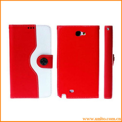 hot selling the squirrel hair grain Wallet stand leather case for samsung galaxy note 2/n7100