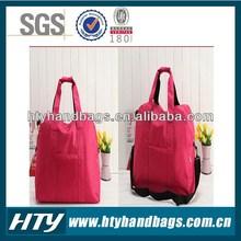 Super quality branded 600d polyester plain travel bag