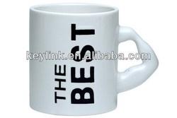 Top grade hotsell polished ceramic coffee mug, promotional mugs