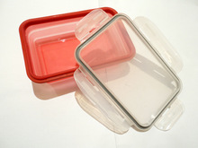 Collapsible silicone lunch box/ Silicone lunch box
