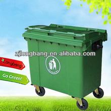 1100L large plastic waste bins with wheels(LBL-1100)