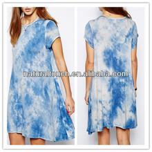 Fashion Relaxed, swing shape women short casual dress(YDQ03168)