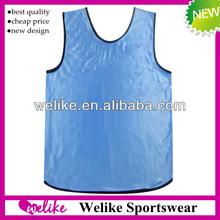 2014 soccer training vest sky blue football bibs custom logo printing tank top wholesale