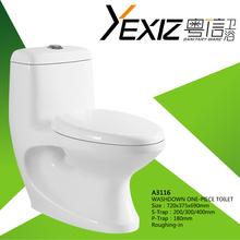 A3116 sanitary ware washdown one-piece wc pan ceramic toilet