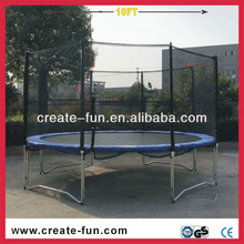 10ft adult playground equipment trampoline with safety enclosure