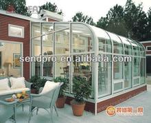 curved roof sun room/sun house/glass house