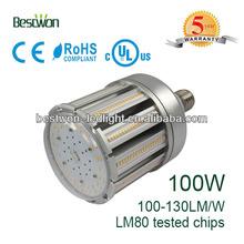 UL Approved 100W Samsung 5630 LEDs IP64 5 years warranty 360 Degree E40 E39 Base LED Lamp
