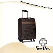 STL15275 pu leather trolley luggage factory