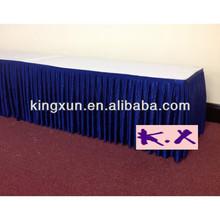 Royal Blue Table Skirt For Wedding Ice Silk Fabric