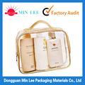 promocional pvc transparente bolsa de cosméticos
