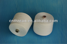 "40/1 high tenacity 100%polyester yarn ""S"" twist. raw white. for sewing thread"