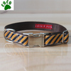 Orange and Black Striped Embroidered nylon collars for dogs