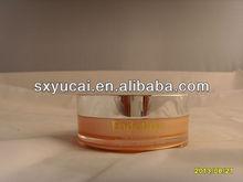 silver aluminium cosmetic jar with screw cap