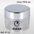 50g 60g 100g clear round wide-mouth jars