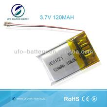 U501721 3.7V 120mAH Lipo Rechargeabe Battery Pack For E-watch,E-pen