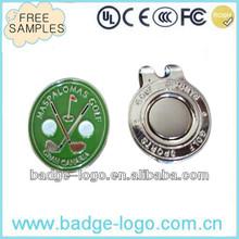 customised magnetic ball marker hat clip for golf
