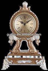 unique bedside antique resin table clock