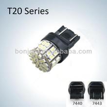 Hotsale 50smd car led lights t20 w21/5w 7443 7440 led bulbs led auto orange lights