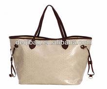 PU snake leather hand bag large holder beach bag hot sale