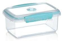 plastic box food container with lid plastic clip lock