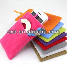 Samsung N7108 flannelette bags N7100 phone bag Iphone 5 5s Velvet bag