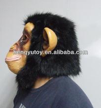 Hot Sales Animal Full Head Mask Newly Monkey Costume Props Rubber Latex Monkey Head Mask