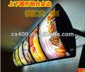 acrílico tabletop display menu stand