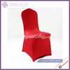 cheap banquet spandex polyester chair cover, red chair cover spandex folding chair cover supply