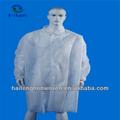 Desechables no tejidas bata de laboratorio( botón)/visitante ropa/bata de laboratorio baratos de laboratorio desechables abrigos de polipropileno bata de laboratorio desechables