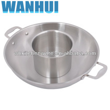 Induction Ready Stainless steel cookware with bakelite mat and suction knob