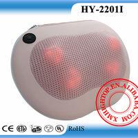 Automatic battery operated vibrating back massage cushion neck shiatsu pillow kneading lumbar