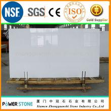 Super White Quartz Stone Slab 3200X1600 MM with 50mm allowance