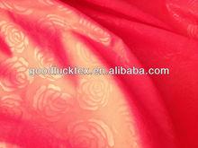 Microfiber fabrics embossed flower designs
