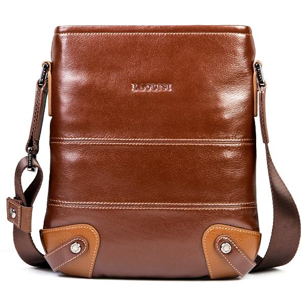 innovative design new trendy genuine leather personalized retro men handbags