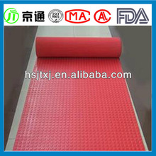 Red Round Stud Rubber/Coin Pattern Anti Slip Rubber Floor Mat