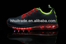 Air glowing shoes casual pattern sports shoes black with red passion trainer shoes night light 2014