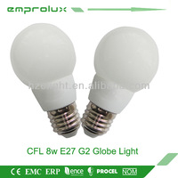 8w E27 G2 globe light energy saving light bulb