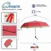 cute fruit printing lady fashional 3 fold manual umbrella