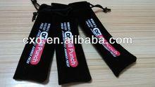 Mini Black Deluxe Vinyl Felt Pen flannelette bag Fabric cloth sack COFFEESTRAINER NIYA Velvet Sleeve Case For Pen