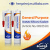 General Purpose Wide Application Acid Curing Acetic Silicone Sealant