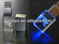 Promocional regalo barato cristal 3d luz led usb pendrive 3.0